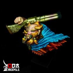 Peana taco lacado negro 4,5x4,5x5