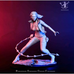 Peana busto madera negro 3x3x5