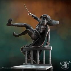 Peana redonda negra 20x2