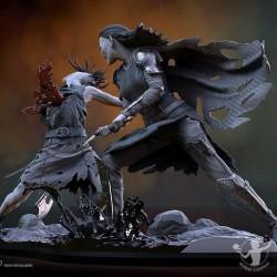 Peana redonda negra 24x2