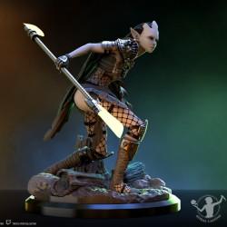 Peana ovalada negra 32x20x2