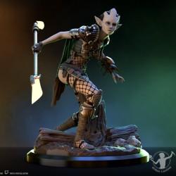 Peana rectangular caoba...