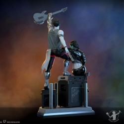 Gato en resina acechando